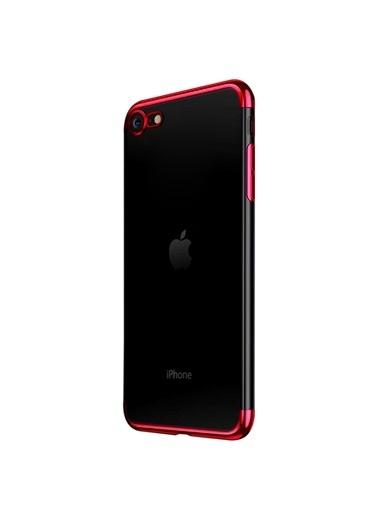 Microsonic Apple iPhone SE 2020 Kılıf Skyfall Transparent Clear Kırmızı